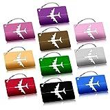 Etichetta Valigia, 10 Pezzi Viaggio bagagli Tag Bagagli Bag Tag in Alluminio ID viaggio borsa Tag Airlines bagagli etichette