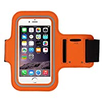 iphone 6s Armband (4.7Inch), Koly Running Sports Sweatproof Armband Gym Iphone 6/6s Arm Band Cover Case (Orange)
