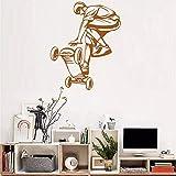 Meaosyy Arte Skateboard Ride Ragazzi Adesivi Murali Carta Da Parati Per Grandi Spazi Poster Per Pareti Da Camera Per Ragazzi Adesivo Poster Rimovibile 56 * 70Cm