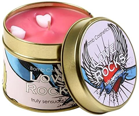 Bomb Cosmetics Love Rocks Scented Tin Candle