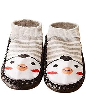 Auxma Para los 0-24 meses, las muchachas de los bebés de los cabritos embroma el calcetín antideslizante del niño...