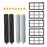 KEEPOW 17 Pack Roomba Replacement Parts for iRobot Roomba 980 960 900 880 870 860 800 Robotic Vacuum Cleaner (5pcs Hepa Filters, 8pcs Side Brushes, 2 sets Tangle-Free Debris Extractor)