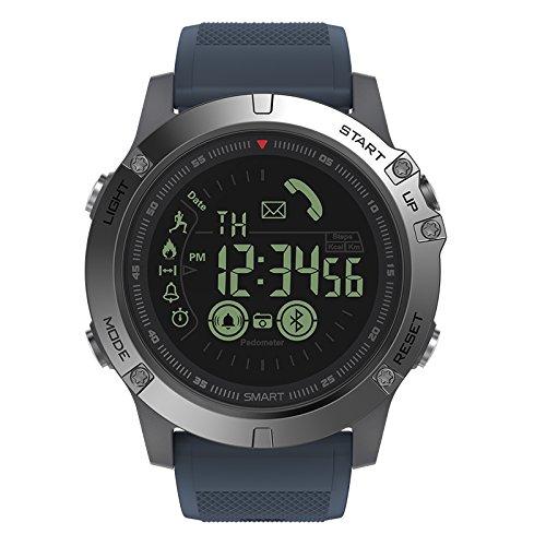 ZTGL Smart Watch Intelligente Aktivitäts Uhr Musiksteuerung Pulsmesser Schlafmonitorfitness Tracker Blutdruckmessung Schrittzähler Farbbildschirm Mit IP68 Wasserdicht Für Android Ios,Blau
