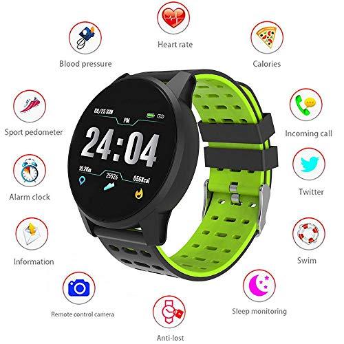 LayOPO Tracker Fitness Frequenza Cardiaca, Bluetooth Smartwatch Sbloccato Smartwatch per Uomo Donna Kids, Touch Screen Pedometro Sport Wrist Watch per Telefoni Android iOS