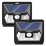 Mpow 10 LED Solarleuchte 2 Stücke mit Bewegungssensor, Helles Weitwinkel-Wandleuchte, Wasserdichte Solarlampe mit Bewegungsmelder für Auffahrt, Garage, Wand, Flur.