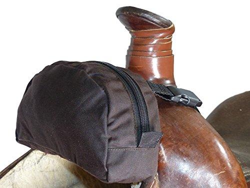 Thor Equine Pommel Pocket Oilskin Satteltasche Western Packtasche braun