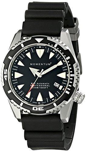 Momentum 1M-DV30B1B - Reloj de pulsera hombre, Caucho, color Negro