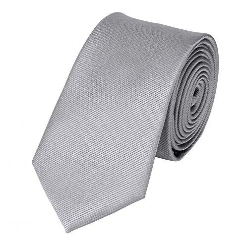 Fabio Farini klassische 6 cm Krawatte, für jeden Anlass in steingrau, grau