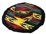 Cooler Rasta Hut mit schwarzem Plüschrand