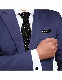 Y&G YAC1C01 Tie cl¨¢sico con dibujos multicolores Contempor¨¢neo Seda Regalo 3PT