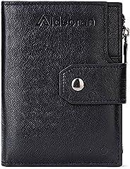 Smart Anti-theft GPS Vertical Wallets Men Slim Trifold Cowhide Genuine Soft Black Leather Multi Card Cases &am