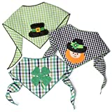 Tail Trends St. Patrick's Day Dog Bandana 3 Pack - Cotton (Large)
