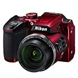 Best Bridge Cameras - Nikon B500 Coolpix Digital Compact Camera - Red Review