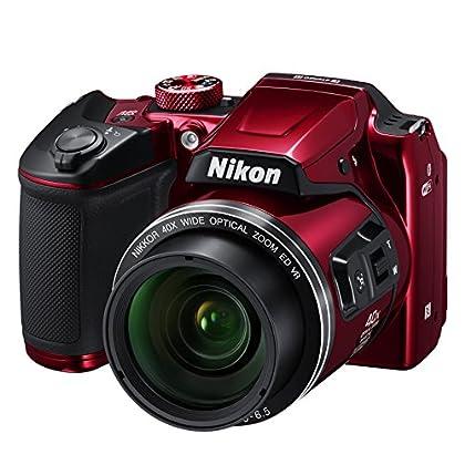 """Nikon COOLPIX B500 - Cámara Digital de 16 MP (4608 x 3456 Pixeles, TTL, 1/2.3"""", 4-160 mm), Rojo"""