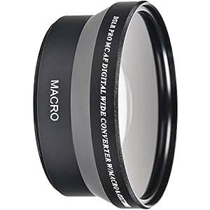 55mm Wide Angle 0.45x Conversion Lens with Macro Close-Up Attachment for Nikon D5600, D5500, D3400, D3300 Digital SLR Camera with Nikon AF-P DX NIKKOR 18-55mm f/3.5-5.6G, VR Lens (55MM Filter Thread)