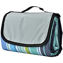 techsmile 150 x 200 cm Manta de picnic Alfombra camping para Camping Playa Prado, Impermeable Plegable portatil