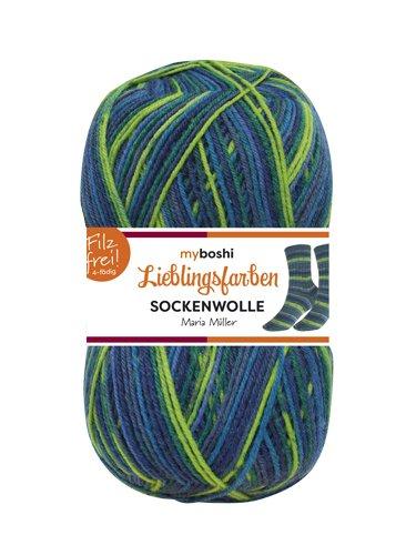 Lieblingsfarben Socken-Wolle 4-Fädig Häkel-Strickgarn für Strümpfe je 100 g Pro Knäuel und 420 m Lauflänge, Maschinenwaschbar bis 40 Grad …Maria Müller