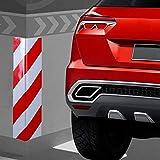 2-unidades-Columnas-Parking-protector-puerta-garaje-Esquina-Parking-Adhesivo-Al-Apagar-Paragolpes-Protector-para-La-Puerta-de-Coche-40-15-cm-ROJOBLANC-2Unid-40-15cm