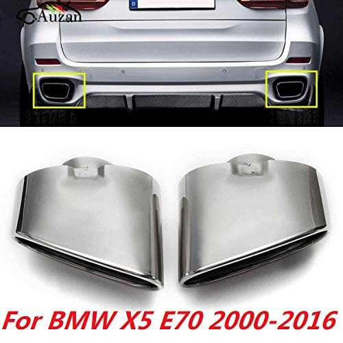 AniFM 2 STÜCKE Top Qualität Auspuff Auto Auspuffrohre für B M W X5 E70 2008-2013 Geändertes Zubehör