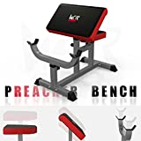 We R Sports® Preacher Arm Curl Bench for Arms Biceps Dumbbell Barbell Home Fitness Heavy Duty