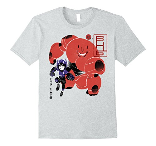 Mens Disney Big Hero 6 Hiro Duo Painting Graphic T-Shirt Medium Heather Grey (Orca-duo)