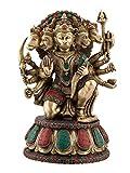 Aone Indien 1,2FT hoch Einzigartige Fünf Face Hanuman Messing Statue Bajrang Bali Religiöse Gottheit (groß 35,6cm) + Cash Umschlag (10Stück)
