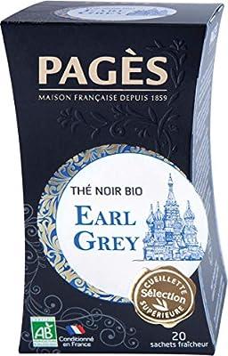 Pagès Thé Noir Earl Grey Bio 20 sachets - 1 pc