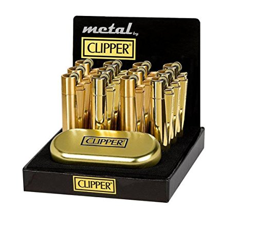 1 x Clipper original oro metal encendedor con dorado metalizado lata