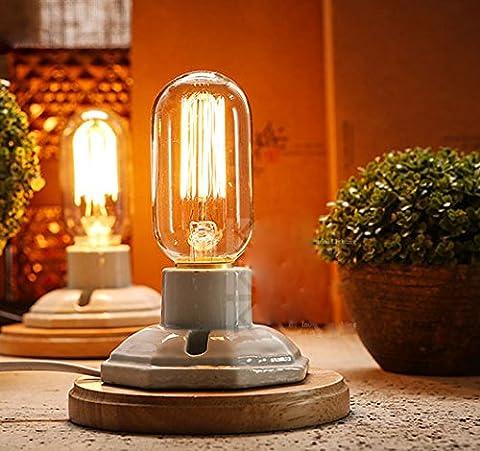 fsliving 6ampoules à incandescence 40W EDISON Ampoule T45& # nitrure; droite tungstène & # enduit;