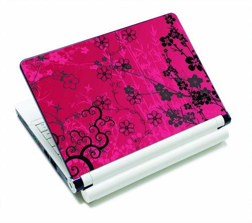 Luxburg® Design Aufkleber Schutzfolie Skin Sticker für Notebook Laptop 10 / 12 / 13 / 14 / 15 Zoll, Motiv: Sakura - Pink Apple-aufkleber
