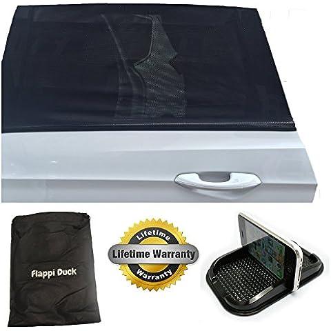 Parasol de coches | Pack de 2 | Bloquea el 98% de los rayos UV | Proteja a sus niños y mascotas | 100% Garantía de por vida