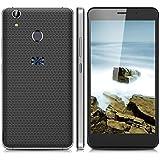 """THL T9 Plus - Smartphone libre 4G (Pantalla 5.5"""" FHD, Android 6.0 Quad-core 1.3GHz, 2GB RAM 16GB ROM, Cámaras Duales 2.0 Mp + 8.0 Mp, Dual SIM, Lector de huellas dactilares), Negro"""