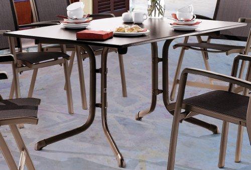 Sieger 1180-70 Boulevard-Tisch mit Puroplan-Platte 165 x 95 cm, Stahlrohrgestell marone, Tischplatte...