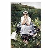 Bilderwelten Leinwandbild - Künstlerbilder Bekannte Werke - Klee Klimt Gauguin Signac Sorolla Degas Bierstadt Kirchner