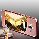 Samsung Galaxy J7 2016 Hülle, Handyhülle [Metall Bumper Alu Case 2 in 1] Schutzhülle für Samsung Galaxy J7 2016 Back Cover Rückschale [Pink]