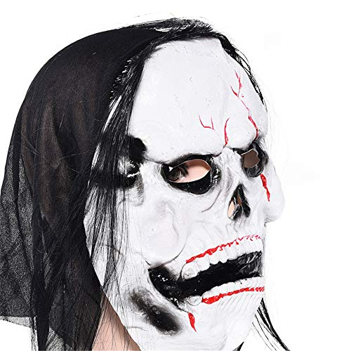HYSMJ Masken Halloween Makeup Maske Geistermaske Ganzer Gesichts Latex D