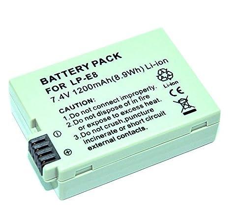 Mondpalast @ LP-E8 Remplacement Batterie avec infochip pour Canon EOS