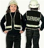 Feuerwehr Spiel Weste für Kinder Kinderkostüm schwarz Fasching Karneval Party Gr 104