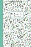 Une ligne par jour | 5 ans de souvenirs: Journal de souvenirs daté, motif fleuri vert et blanc