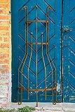 KUHEIGA Wandrankgitter Roheisen/Rost H: 150cm Rankgitter aus Metall Rankhilfe