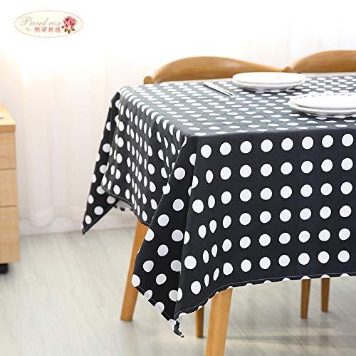 Weiß Polka Dot Tischdecke Baumwolle Tischdecke Rechteckige Tischdecken Haushalt Tischdecke Tischdekoration 1 130 * 180 cm