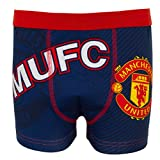 Manchester United FC Official Football Gift Mens Crest Boxer Shorts Navy Med.