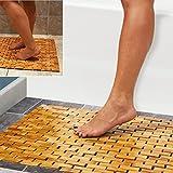 HANKEY Bambusmatte Badematte aus Bambus Holz | Duschmatte, Badteppich | Fußmatte für Dusch, Bad, Spa, Balkon | Wasserfest, Umweltfreundlich & Langlebig |...