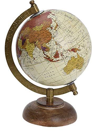 made2trade Globus im Retro Design - Beige - 15CM