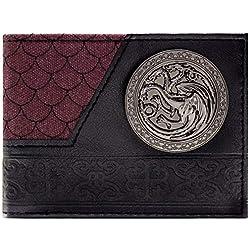 Cartera de Game of Thrones Casa Targaryen Escala de dragón Negro