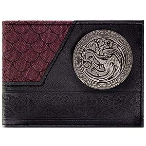 Game of Thrones Haus Targaryen Drachenschuppe Schwarz Portemonnaie Geldbörse