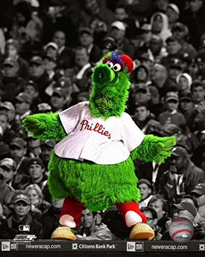 The Phillie Phanatic Mascot of The Philadelphia Phillies Spotlight Photo Print (27,94 x 35,56 cm)