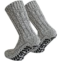 Tobeni 3Pairs ABS Stopper Norwegian socks with wool for Men and Women