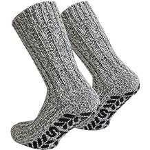 Tobeni 3 paia di calze con ABS stopper lana di pecora norvegese per gli uomini e le donne