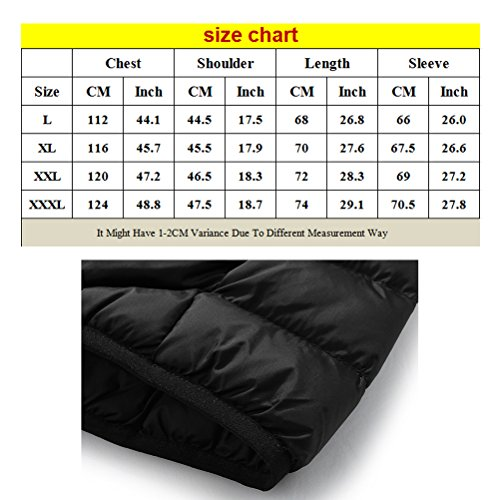 Zhuhaitf Style coréen Winter Men Outdoor Warm Jacket Hooded Thin Outerwear red